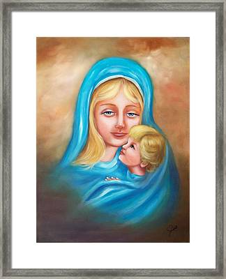 Madonna And Child Framed Print by Joni McPherson