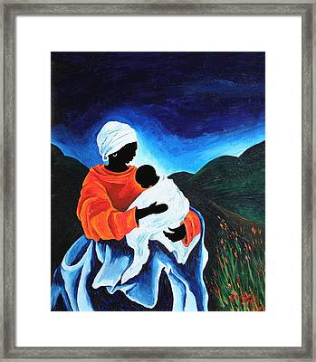 Madonna And Child  Lullaby Framed Print by Patricia Brintle
