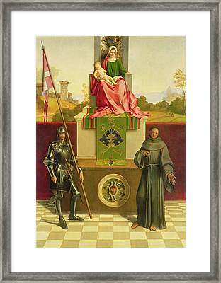 Madonna And Child With Saints Liberale And Francis Framed Print by Giorgione