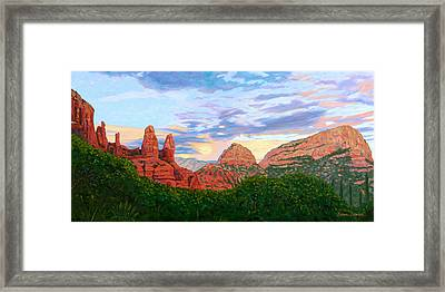 Madonna And Nuns - Sedona Framed Print by Steve Simon