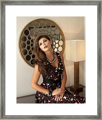 Madonna Chanel Palm Springs Framed Print by William Dey