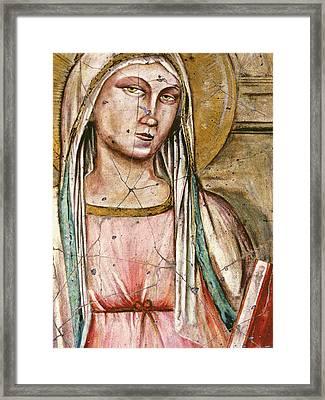 Madonna Del Parto - Study No. 1 Framed Print by Steve Bogdanoff