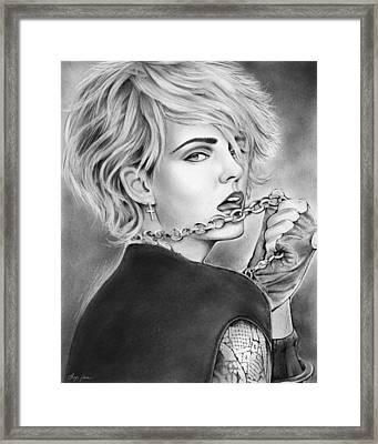 Madonna Framed Print by Greg Joens
