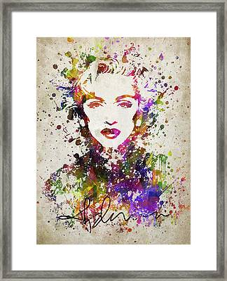 Madonna In Color Framed Print by Aged Pixel