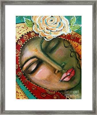 Madonna Of The First Breath Framed Print by Maya Telford