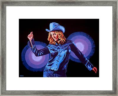 Madonna Painting Framed Print by Paul Meijering