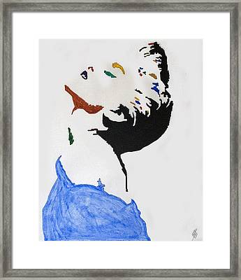 Madonna True Blue Framed Print by Stormm Bradshaw