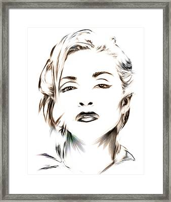 Madonna Framed Print by Wu Wei