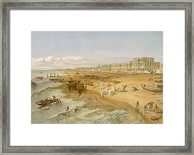 Madras, From India Ancient And Modern Framed Print by William 'Crimea' Simpson