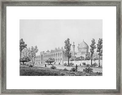 Madrasa-yi Masjid-i Shah Sultan Framed Print by Pascal Xavier Coste