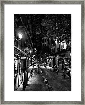 Madrid Side Street Framed Print by Cary Shapiro