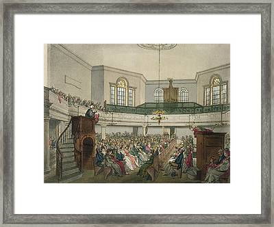 Magdalen Chapel Framed Print by Pugin And Rowlandson