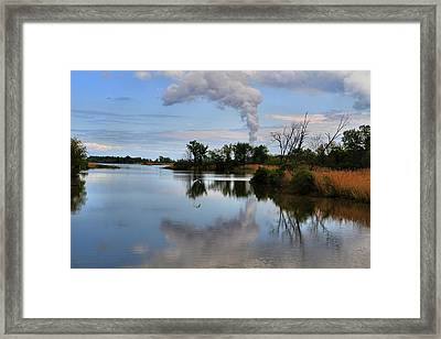 Magee Marsh Reflection Framed Print by Dan Sproul