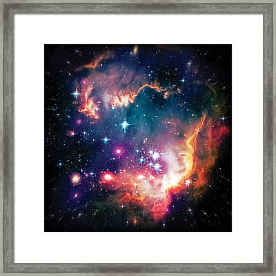 Magellanic Cloud 1 Framed Print by The  Vault - Jennifer Rondinelli Reilly