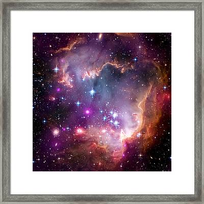 Magellanic Cloud 3 Framed Print by The  Vault - Jennifer Rondinelli Reilly