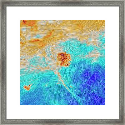 Magellanic Clouds Magnetic Field Framed Print by Planck Collaboration/esa