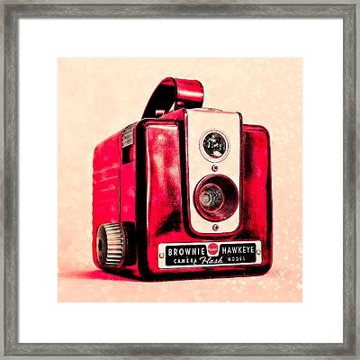 Magenta Brownie Hawkeye - Square Framed Print by Jon Woodhams