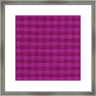 Magenta Checkered Pattern Cloth Background Framed Print by Keith Webber Jr
