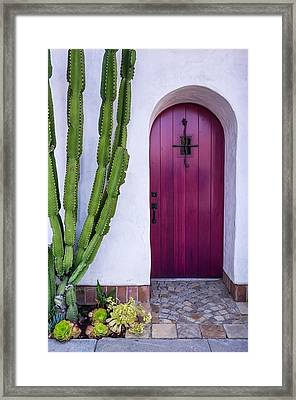 Magenta Door Framed Print by Thomas Hall Photography