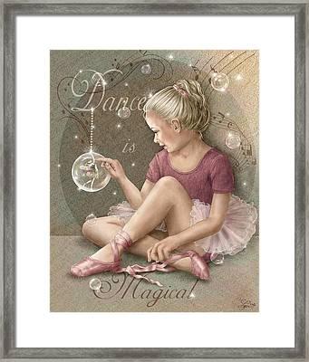 Magic Ballerina Framed Print by Beverly Levi-Parker