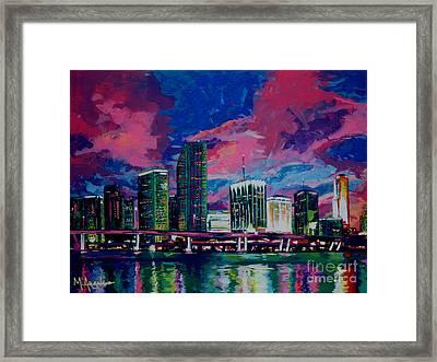 Magic City Framed Print by Maria Arango