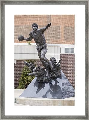 Magic Johnson Statue At Breslin  Framed Print by John McGraw