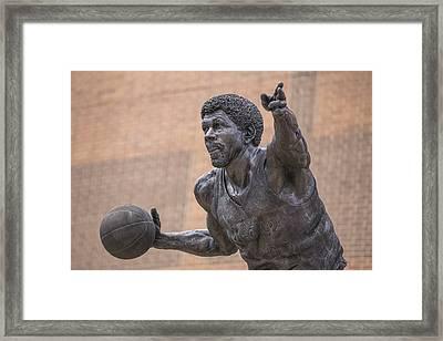 Magic Johnson Statue  Framed Print by John McGraw