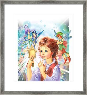 Magic Mirror Framed Print by Zorina Baldescu