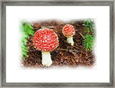 Magic Mushrooms Framed Print by Ayse Deniz