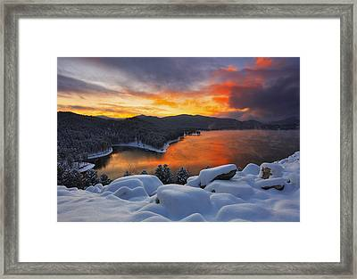 Magic Sunset Framed Print by Kadek Susanto
