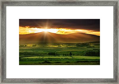 Magic Valley Framed Print by Semmick Photo