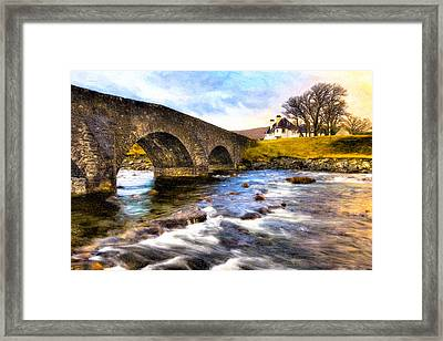 Magic Waters On The Isle Of Skye Framed Print by Mark E Tisdale