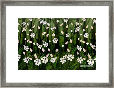 Magical Blooms Of The Deep Forest Framed Print by Bedros Awak