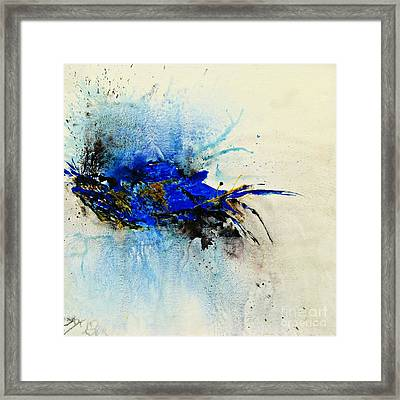 Magical Blue-abstract Art Framed Print by Ismeta Gruenwald