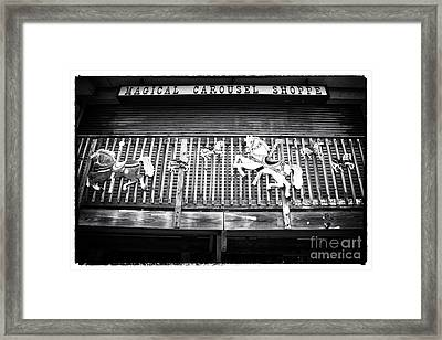 Magical Carousel Shoppe Framed Print by John Rizzuto