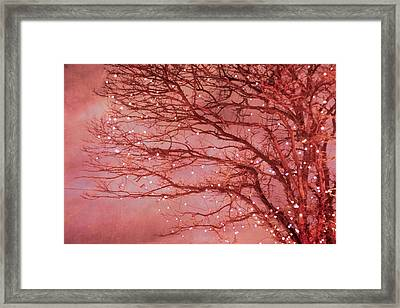 Magical In Pink Framed Print by Violet Gray