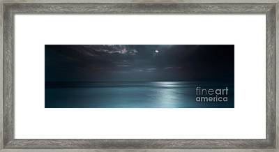 Magical Night On The Beach Framed Print by Marco Crupi