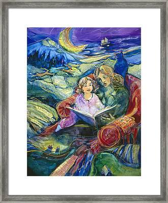 Magical Storybook Framed Print by Jen Norton