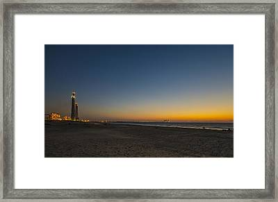 magical sunset moments at Caesarea  Framed Print by Ron Shoshani