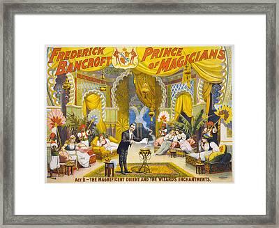 Magician Poster, C1895 Framed Print by Granger
