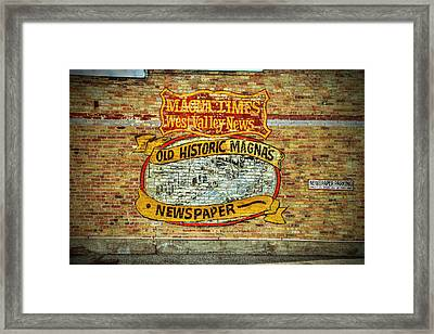 Magna Times Newspaper Framed Print by Nick Gray