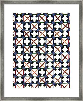 Magnetic-core Memory Array Framed Print by Alfred Pasieka
