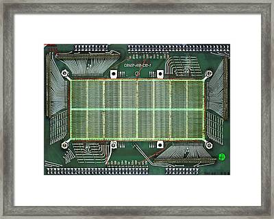 Magnetic-core Memory Of Siemens Computer Framed Print by Pasieka