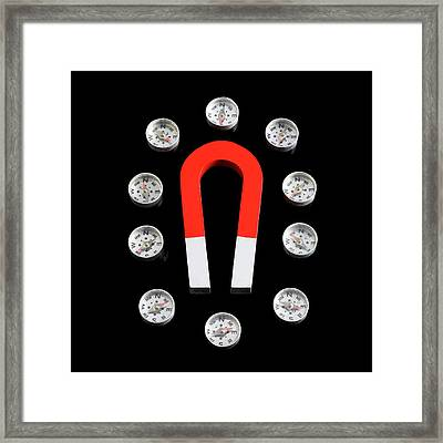 Magnetic Field Framed Print by Science Photo Library