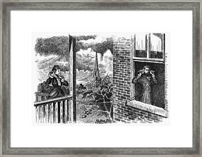 Magneto Telephone, 1876 Framed Print by Granger