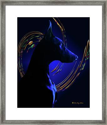 Magnificent Blue Framed Print by Rita Kay Adams