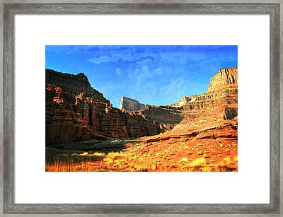 Magnificent Butte Framed Print by Marty Koch