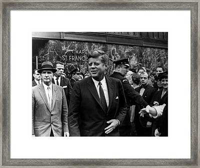 John F. Kennedy Framed Print by Retro Images Archive