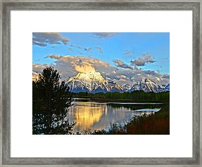Magnificent Mountain Framed Print by Dan Sproul
