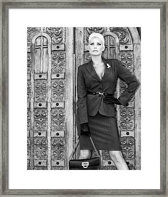 Magnificent Obsession Bw Palm Springs Framed Print by William Dey